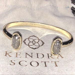 NEW Kendra Scott Platinum Drusy Gold Cuff Bracelet